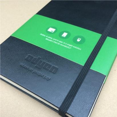 Moleskine notitieboek bedrukt met eigen logo vanaf 20 stuks.