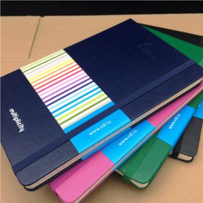 Moleskine notitieboek bedrukt met eigen logo en banderol - The Notepad Factory