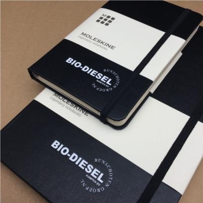 Moleskine notitieboek bedrukt met eigen logo in diverse formaten The Notepad Factory