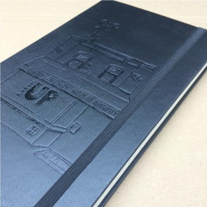 Moleskine notitieboek Black bedrukt met eigen logo zwarte glansfolie - The Notepad Factory