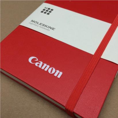 Moleskine notitieboek Rood bedrukt met eigen logo - The Notepad Factory