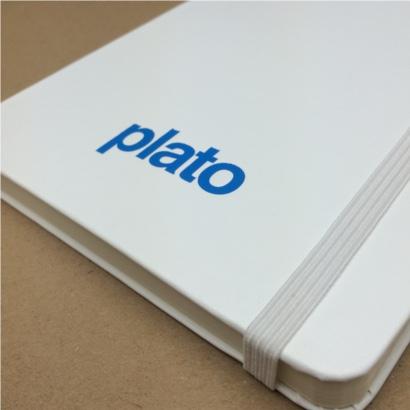 Moleskine notitieboek Wit bedrukt met eigen logo foliedruk - The Notepad Factory