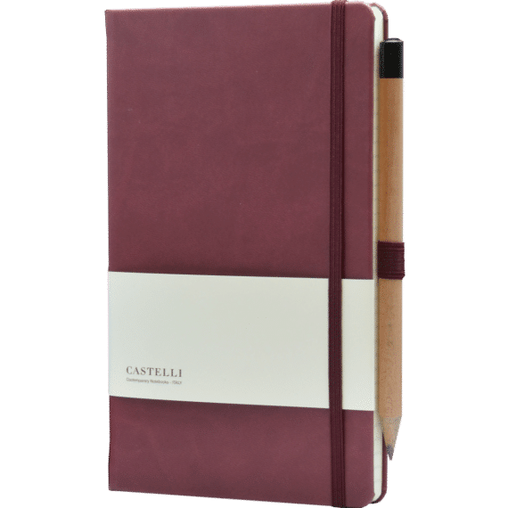 Castelli notitieboek soft touch bordeaux rood