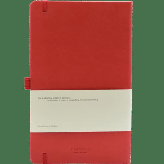 Castelli notitieboek soft touch rood 757 achterzijde