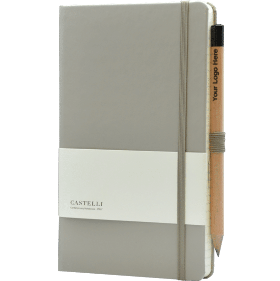 Castelli notitieboek soft touch taupe 639