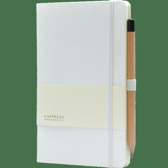 Castelli notitieboek soft touch wit 634
