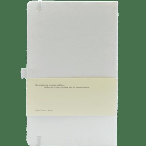 Castelli notitieboek soft touch wit 634 achterzijde