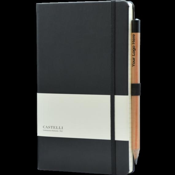 Castelli notitieboek soft touch zwart 464