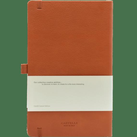 Castelli notitieboek Premium Lederlook Bruin 368 achterzijde