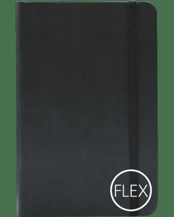 Castelli notitieboek met flexibele kaft bedrukt met eigen logo zwart